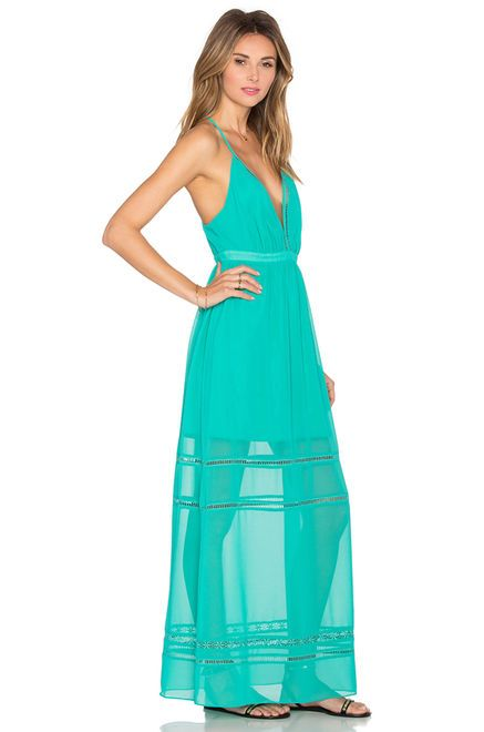 Lovers + Friends Lunar Maxi Dress in Turquoise | REVOLVE