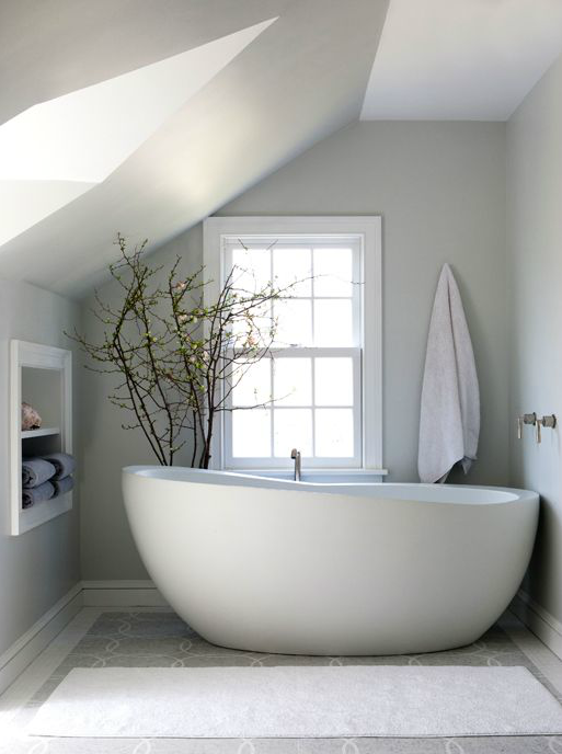 Sage Design - bathrooms - towel niche, towel nook, freestanding ...