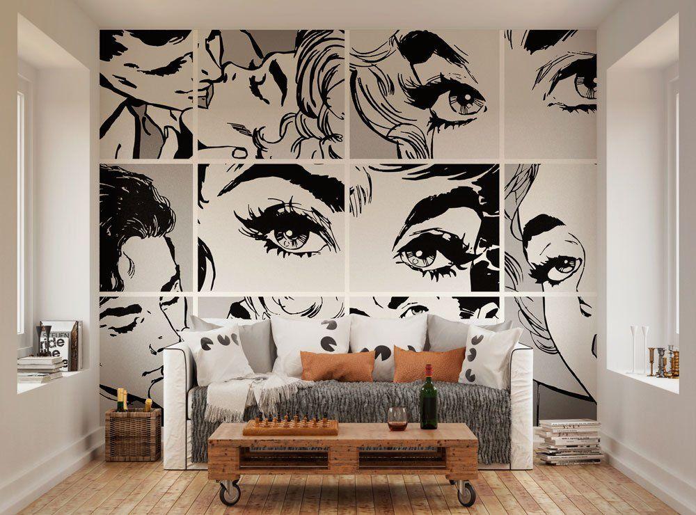 Charmant Ohpopsi Black And White Pop Art Wall Mural: Amazon.co.uk: Kitchen
