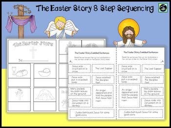 The Easter Story 8 Step Sequencing | Easter | Easter story