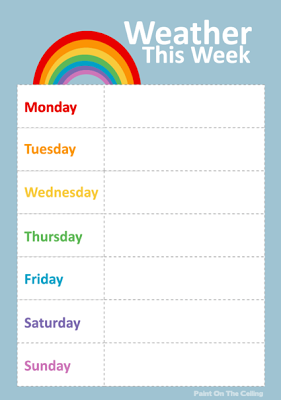 Weather chart also free printable activities for kids curriculum pinterest rh