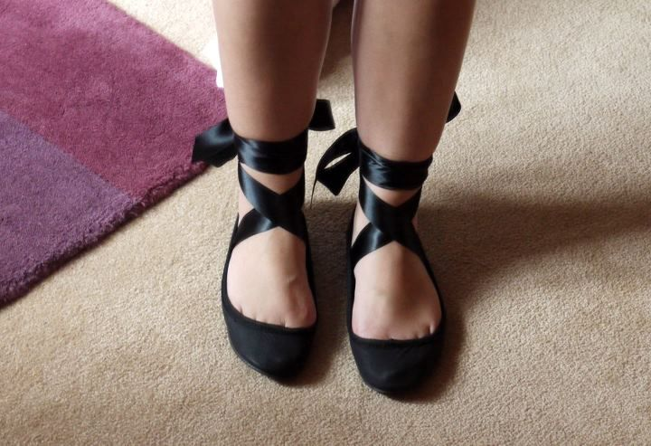 Ballet Flats With Ankle Ribbons Google Search Clothes