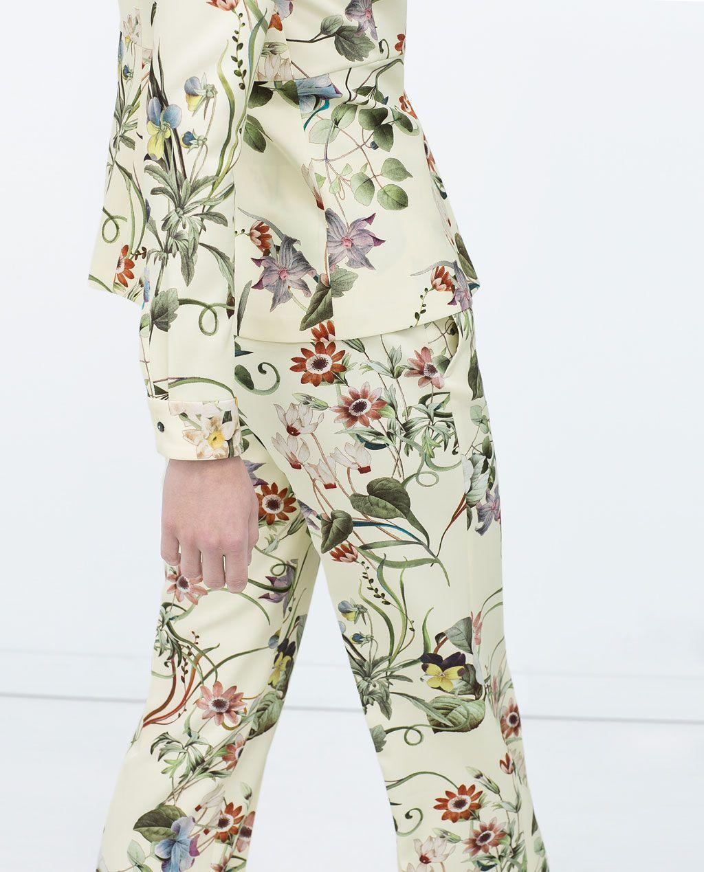 911c18c3b ZARA - WOMAN - FLORAL PRINT LOOSE TROUSERS   Pattern Play- Floral ...