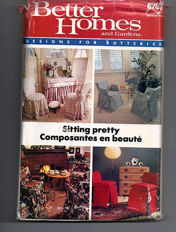 Sitting Pretty Chair Covers / Original Better Homes And Gardens Uncut  Sewing Pattern 6763