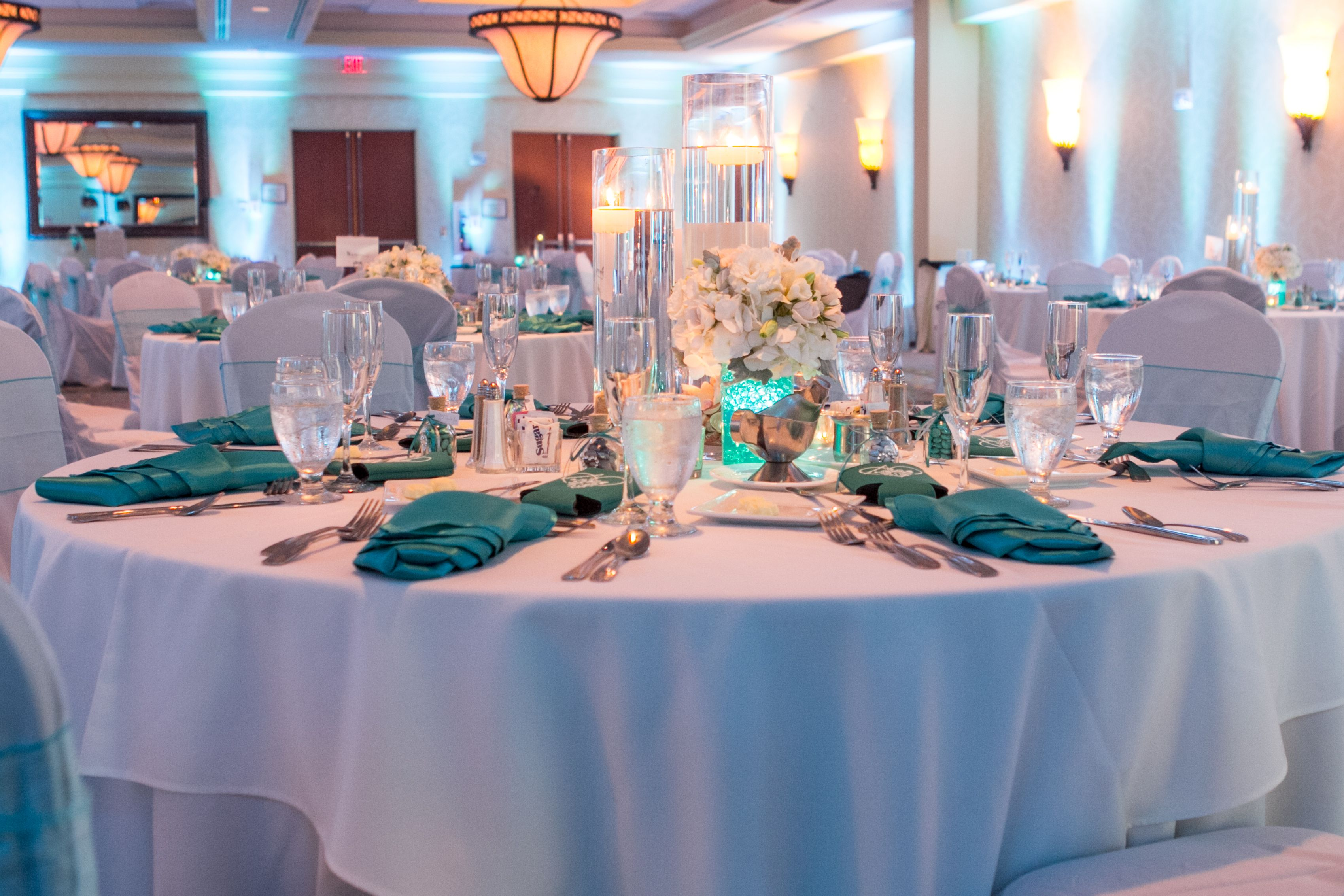 Tiffany Blue Weddinglove Aqua Napkins With Light And Everything Else White