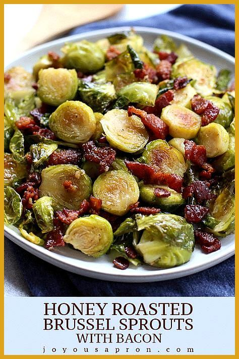 Honey-fried Brussels sprouts with bacon - A light and tasty vegetable garnish ... #buffalobrusselsprouts