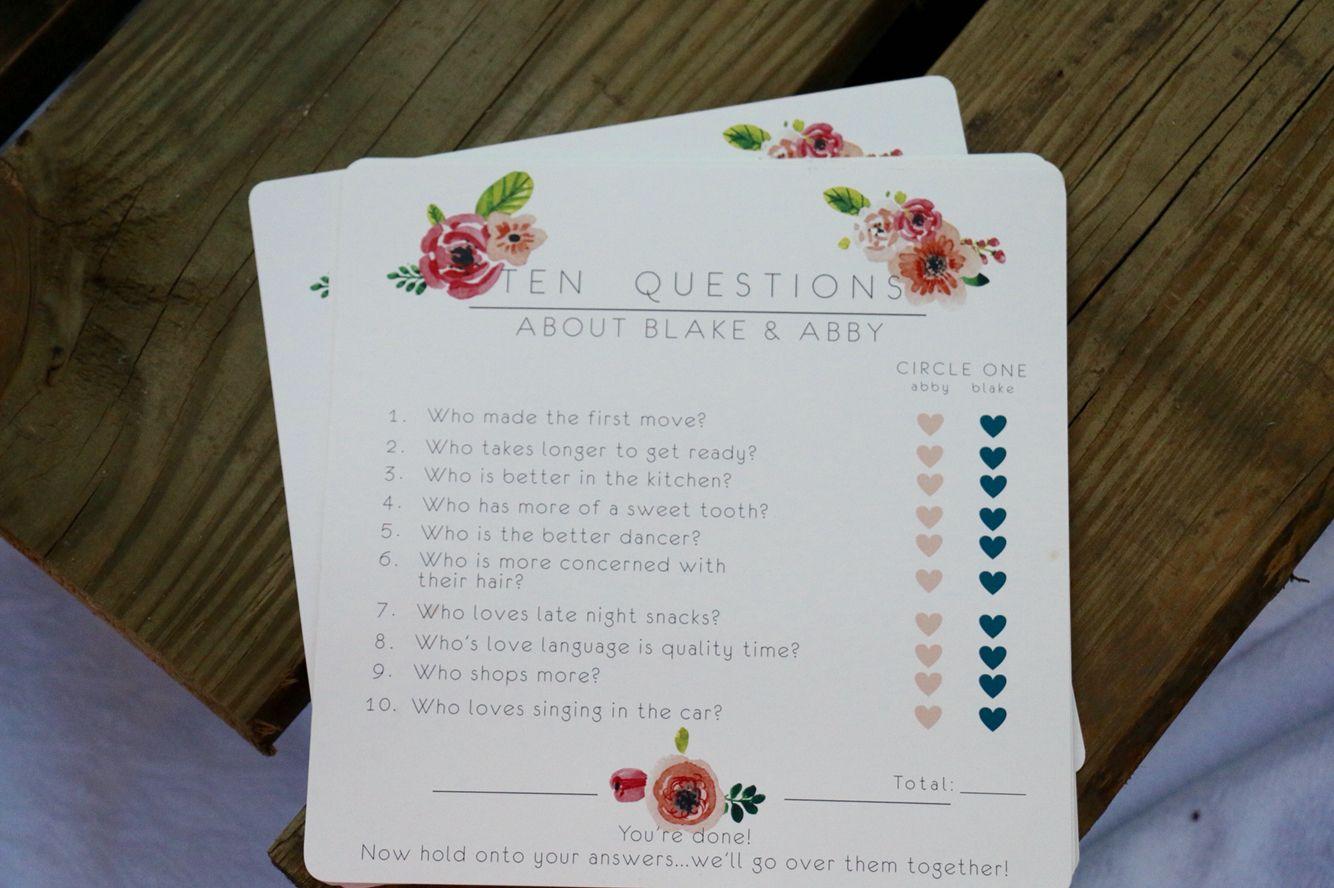 Bridal shower games ideas design cards bridal shower