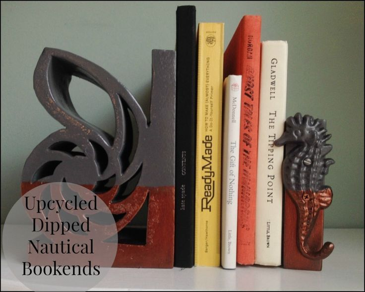 Dipped Nautical Bookends { Thrift Store Upcycle } -,  #Bookends #Dipped #nautical #Store #Thr... #thriftstoreupcycle