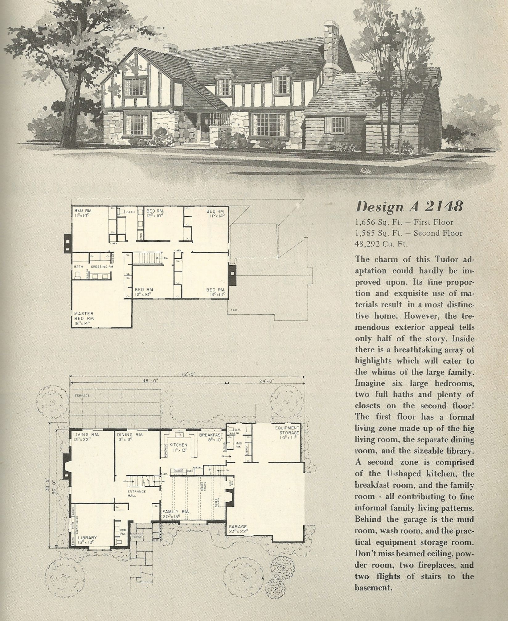 Vintage House Plans 1970s Homes Tudor Style Vintage House Plans Tudor House Vintage House