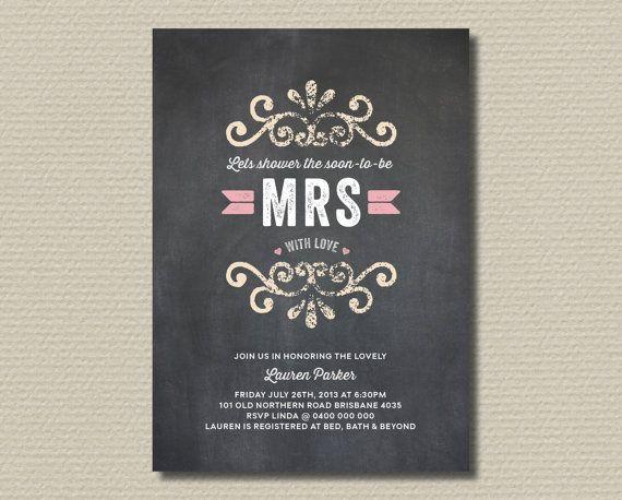 Printable Bridal Shower Invitation  Shower the by rosiedaydesign, $18.00
