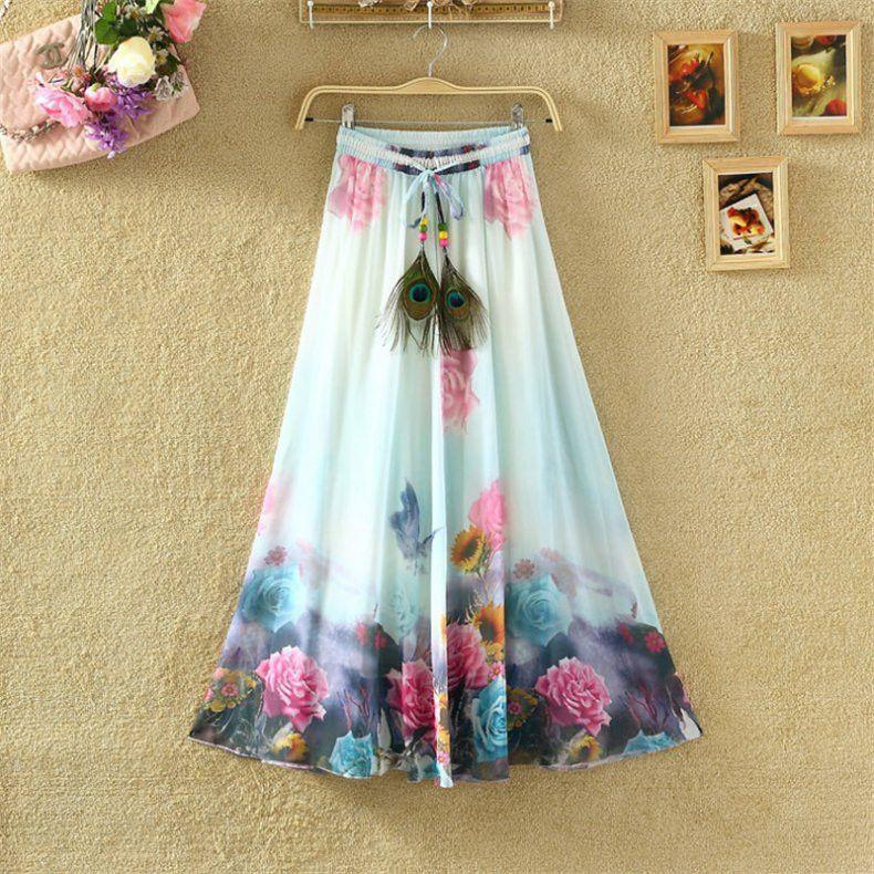 Faldas Bohemias in varios colores / Bohemian Skirts in various colors                                                                                                                                                                                 Más