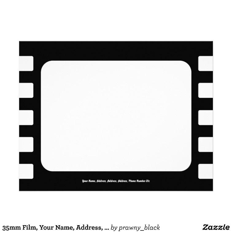MOVIE Ticket Popcorn Cinema Party Birthday Letterhead Template - birthday letterhead