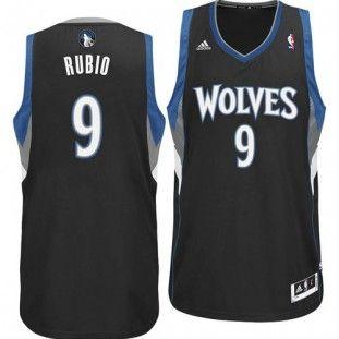 6978f9bd1af Minnesota Timberwolves Ricky Rubio  9 Adidas Swingman NBA Jersey (Black)
