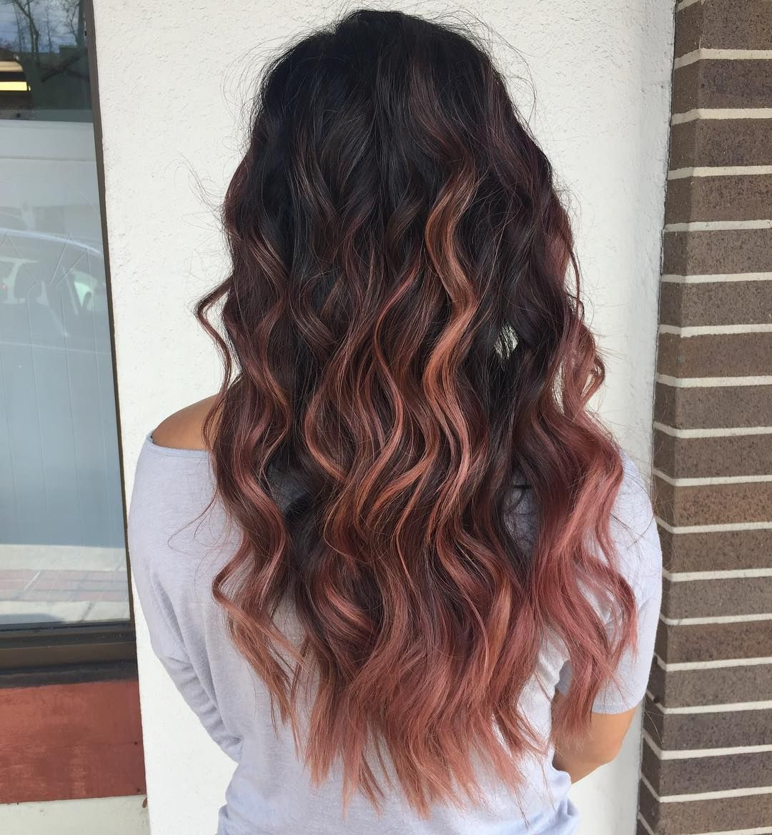 9 Chocolate Rose Gold Hair Colors That Ll Make You Flip Brit Co