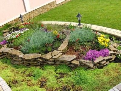 Dise o de jardines exteriores grandes cruz de espuela - Diseno de jardines para casas de campo ...