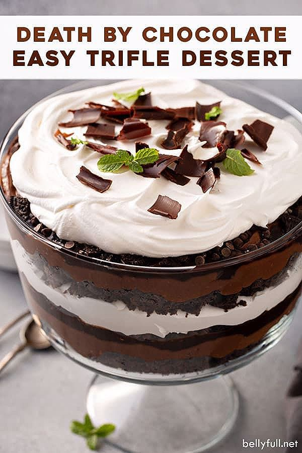 Easy Death By Chocolate Trifle - Belly Full