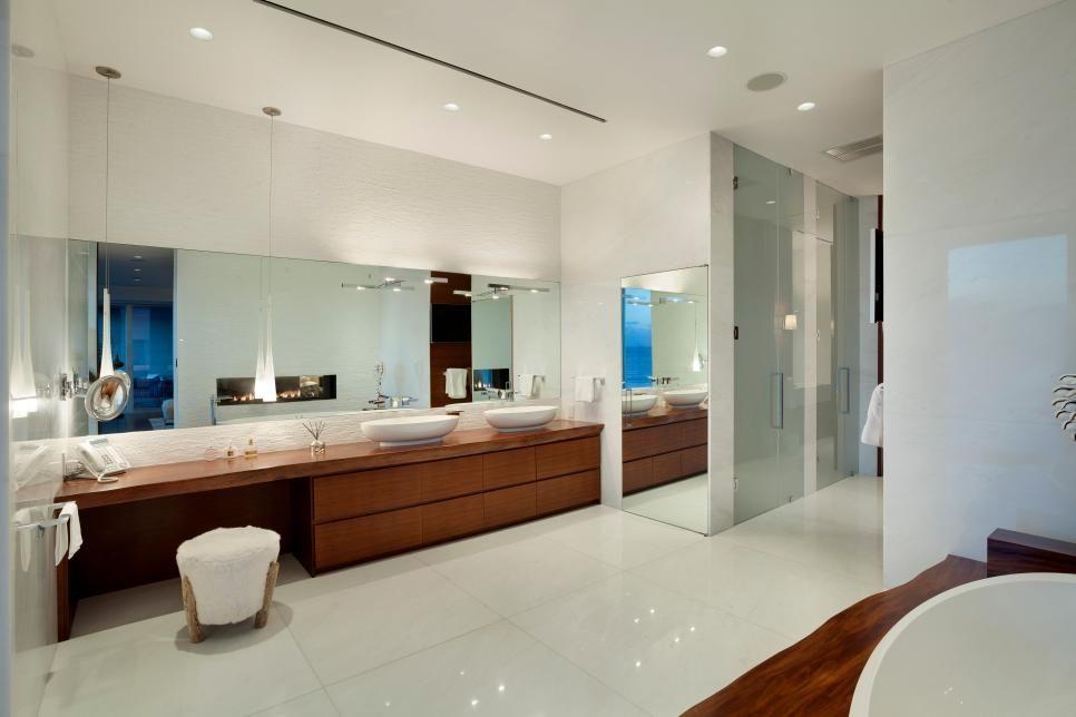 Master bath remodel Sleek and modern