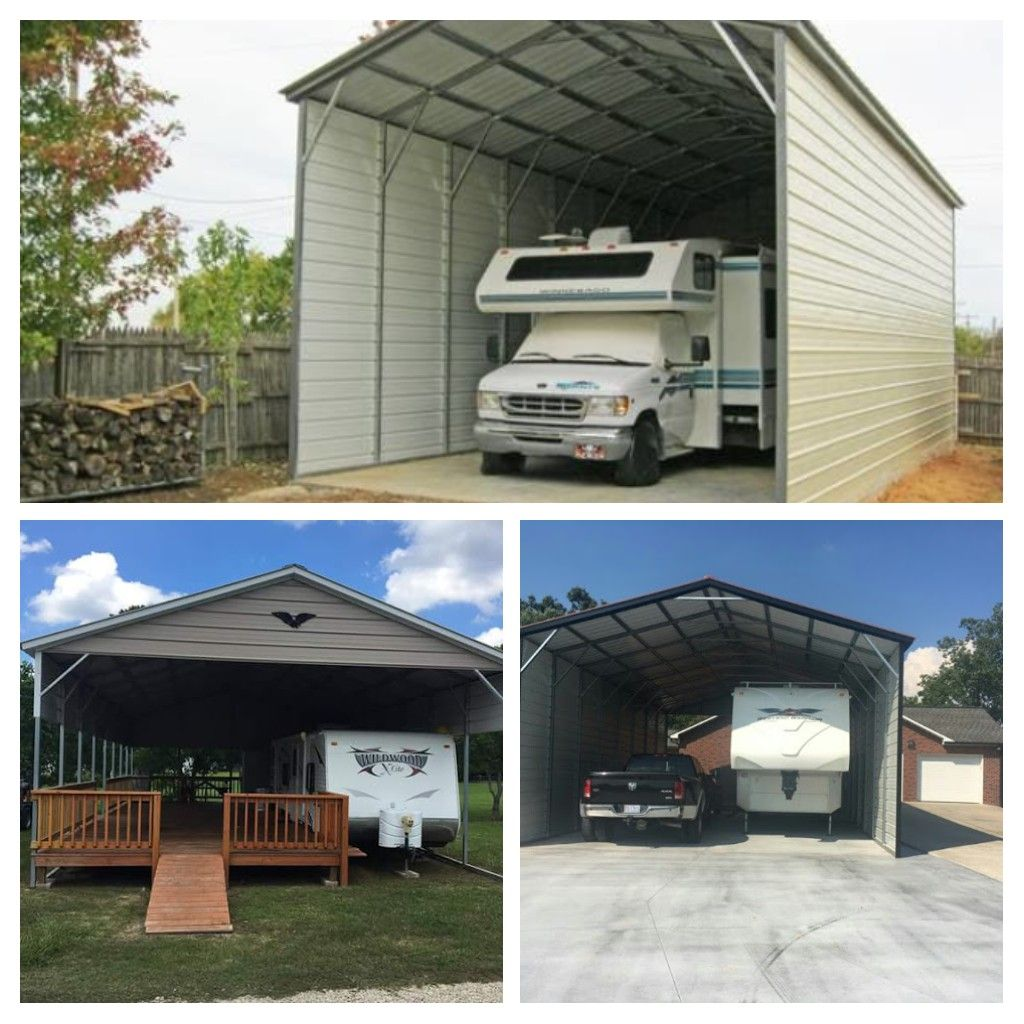 Metal RV Covers and Motor home Garages Better Metal