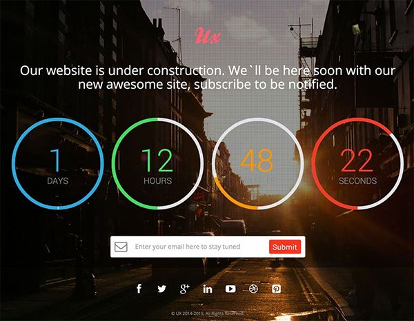 21 Free Coming Soon Under Construction Html Web Templates Website Template Web Template Website