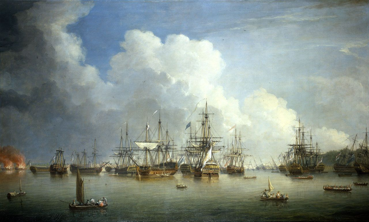 The Spanish fleet captured at Havana after the fall of the city to the British in late summer, 1762