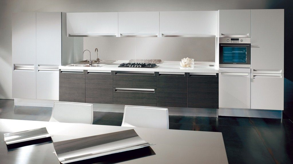 Modern White And Gray Kitchen grey white kitchen designs | winda 7 furniture