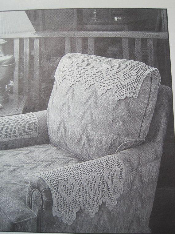 Superb Crochet Pattern Antimacassar Chair Set Headrest And Machost Co Dining Chair Design Ideas Machostcouk