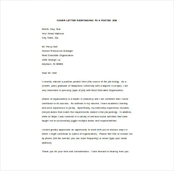 Email Cover Letter Template Job Cover Letter Cover Letter