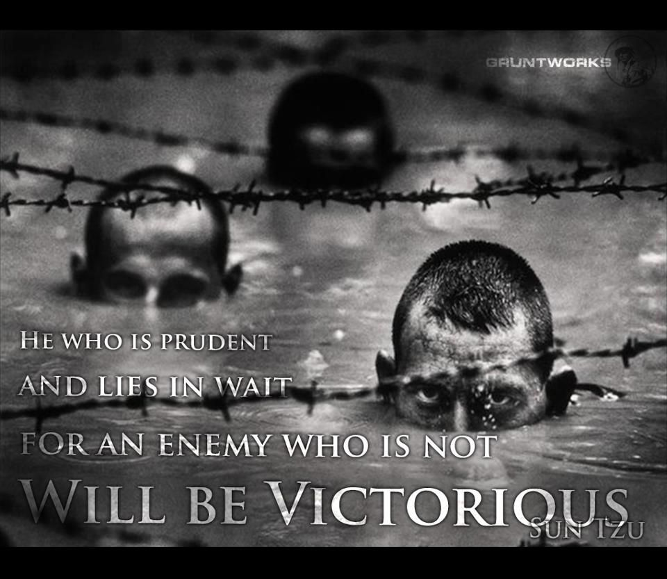 """Art Of War Quotes Know Your Enemy: """"He Who Is Prudent And Lies In Wait For An Enemy Who Is"""