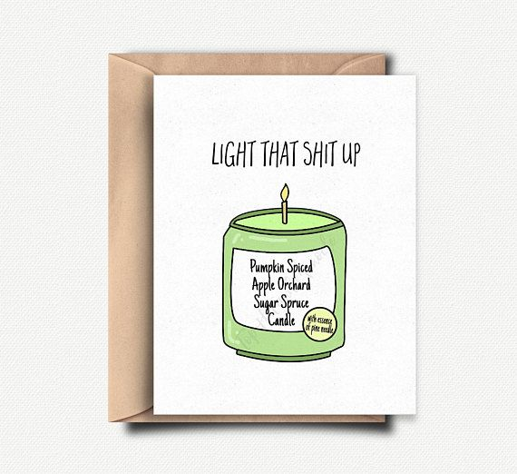 Funny Holiday Card Christmas Pack Sarcastic Box Set Gift For Best Friend Sister Her Him Handmade Scented Candle