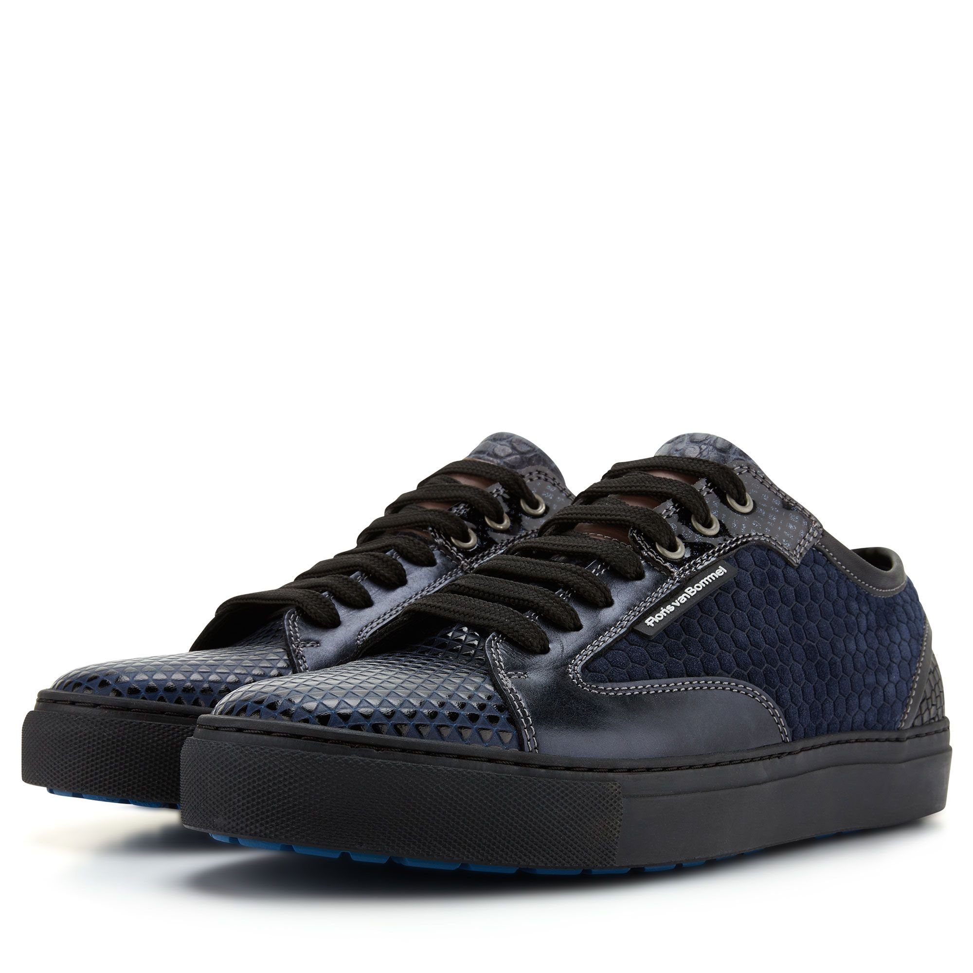 180a6913e9 14319 04 - Floris van Bommel dark blue leather men s sneaker