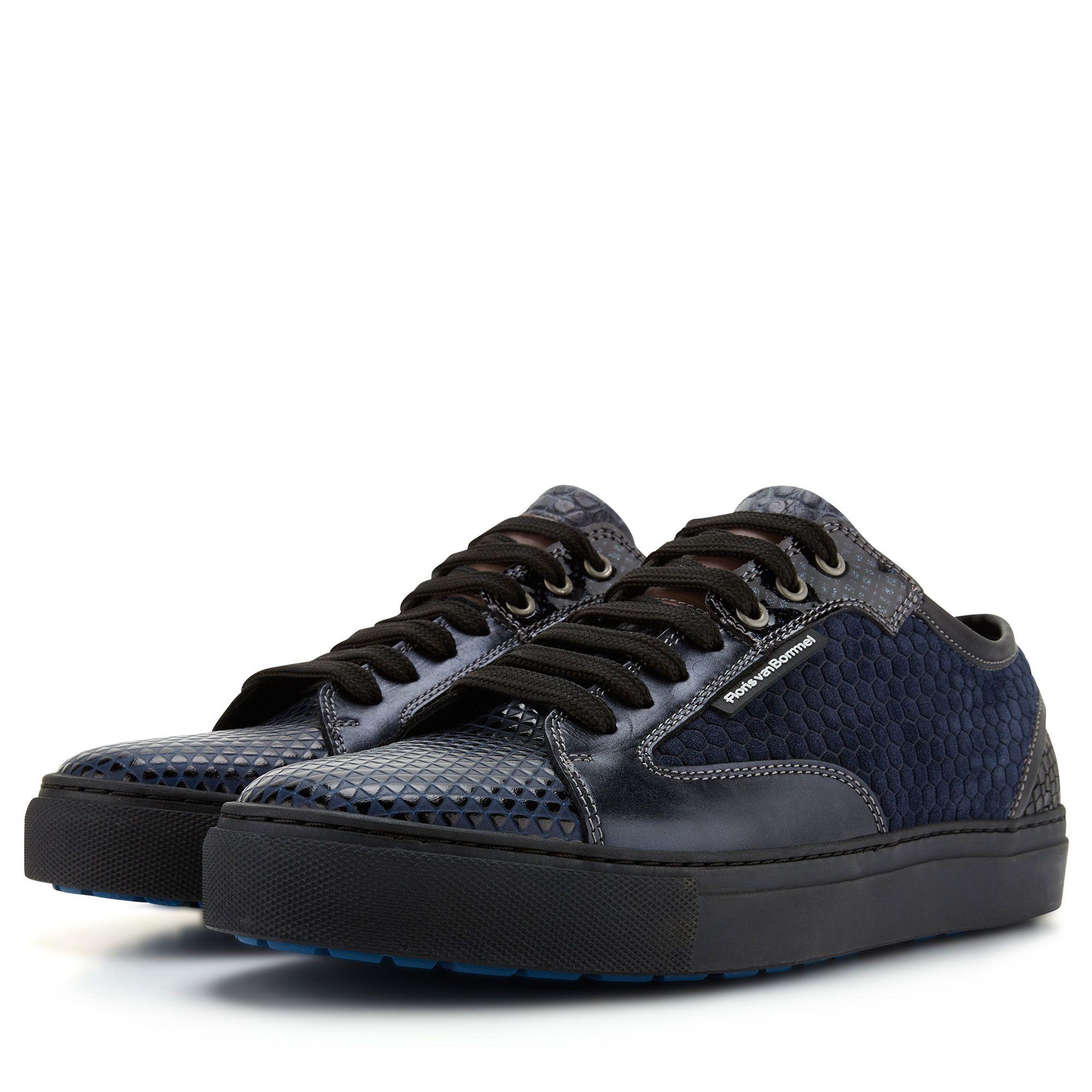 14319 04 Floris Van Bommel Dark Blue Leather Men S Sneaker Mens Sport Sneakers Sneakers Men Fashion Sneakers