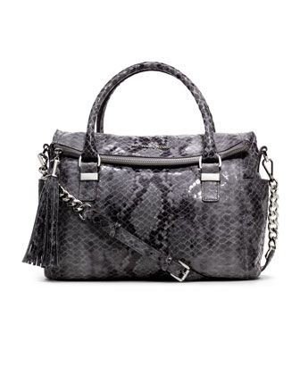 michael michael kors medium weston snake print satchel barbara rh pinterest cl