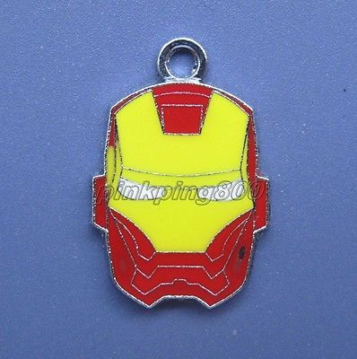 Lot ironman enamel #metal charm #pendants diy jewelry making #party gifts v112,  View more on the LINK: 	http://www.zeppy.io/product/gb/2/272051810068/