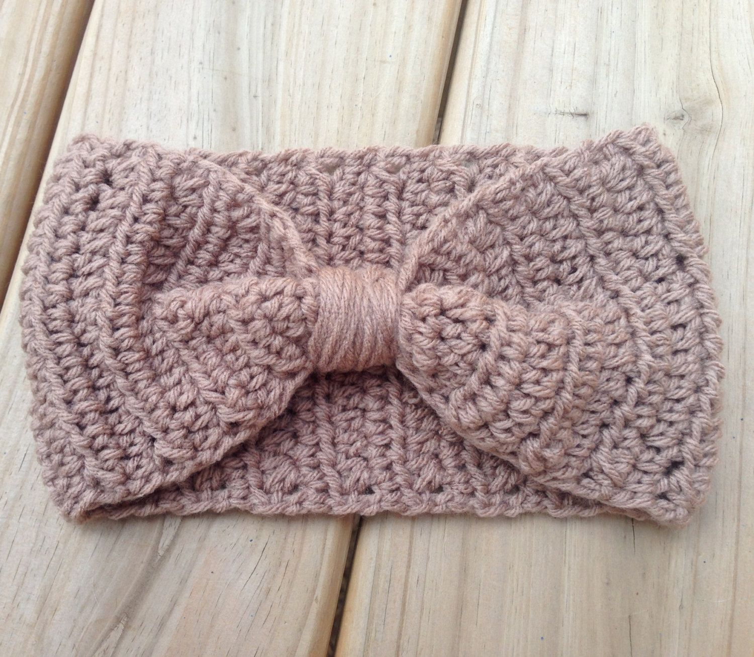 Womens ear warmer turban style headband cinched bow like crochet womens ear warmer turban style headband cinched bow like crochet earwarmer headband head wrap any color bankloansurffo Choice Image