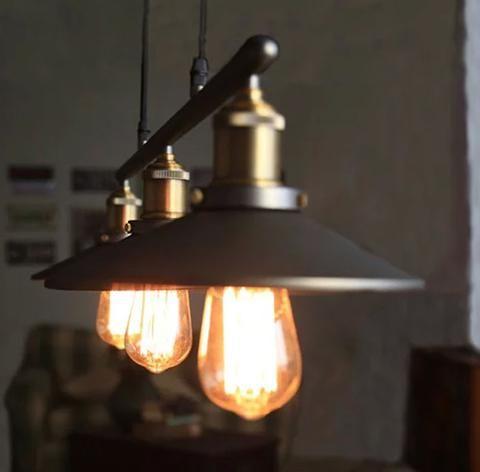 Pendant Lamp - Aluminum& Copper 3 Heads Vintage  Pendant Lamp TD0077
