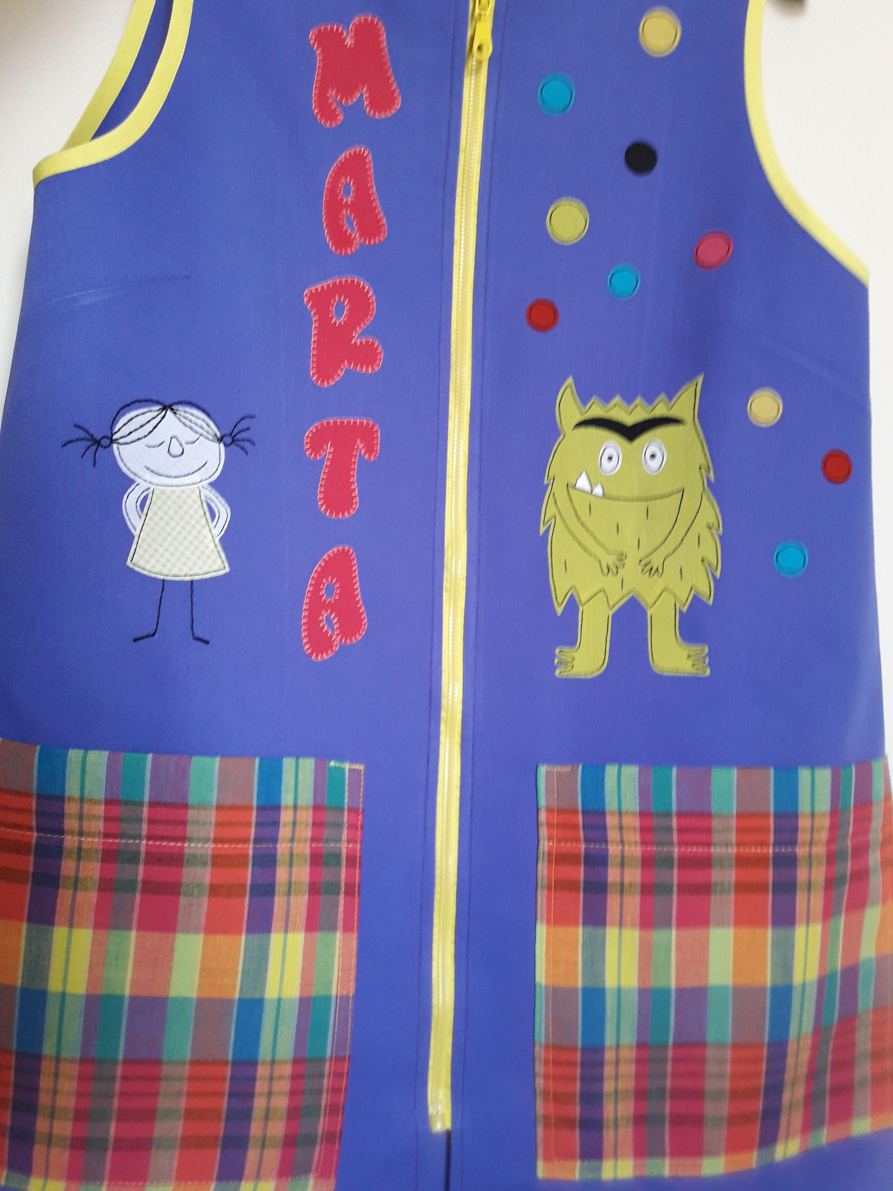 Monstruo de colores para Marta | Mis batas para maestra | Pinterest ...