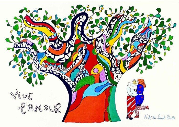 Vive l'amour selon Niki de Saint Phalle | Stampe, Artisti, Eventi