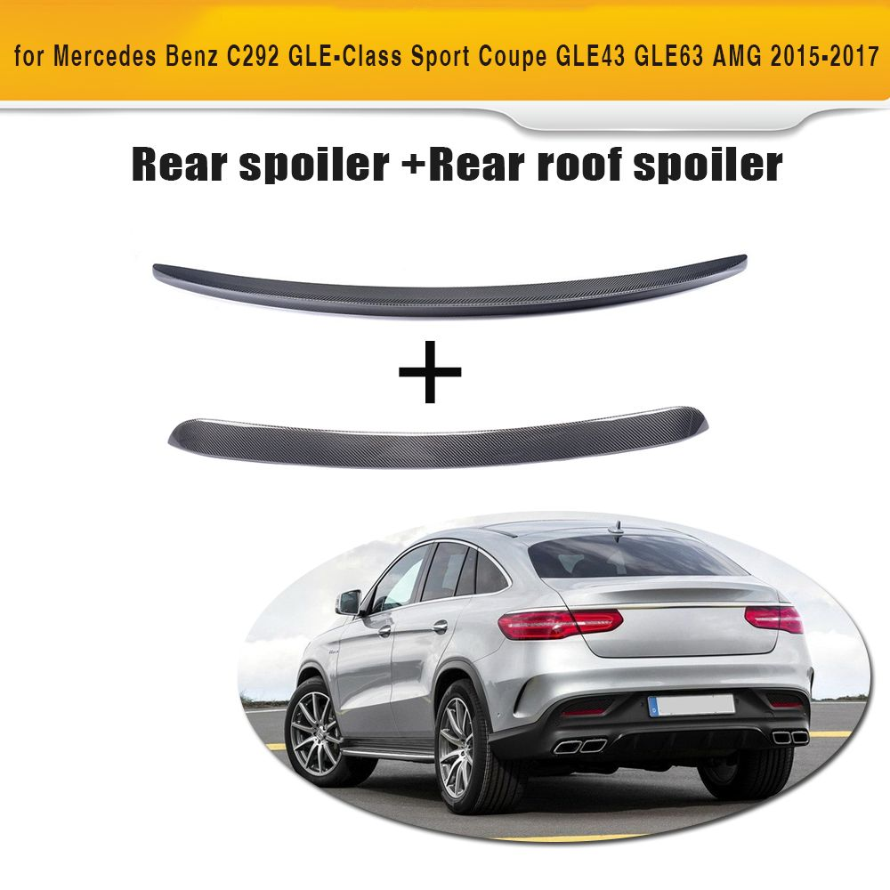 Gle Class Carbon Fiber Rear Roof Wing Trunk Trim Sticker Spoiler For Mercedes Benz C292 Sport Gle43 Gle63 Amg 2015 2017 2pcs Mercedes Benz Mercedes Amg