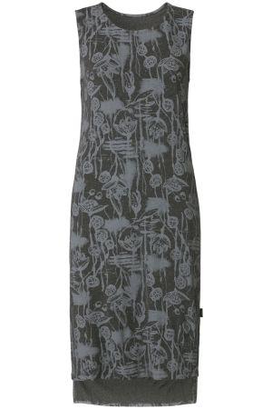 Glamping | Fall collection | Midi dress | Sketch print | Grey