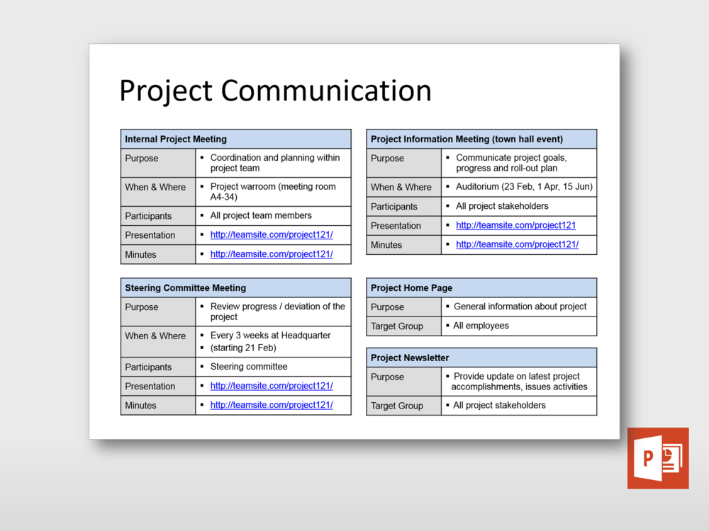 Check Out This New High Level Communication Plan Schedule Template