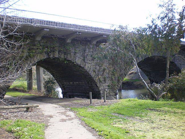 Historic Bridge over the Barwon River in the heart of Winchelsea, Victoria. Australia