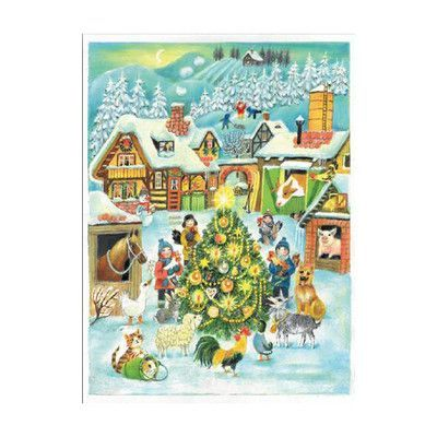 Alexander Taron Sellmer Farm Scene at Christmas Advent Calendar