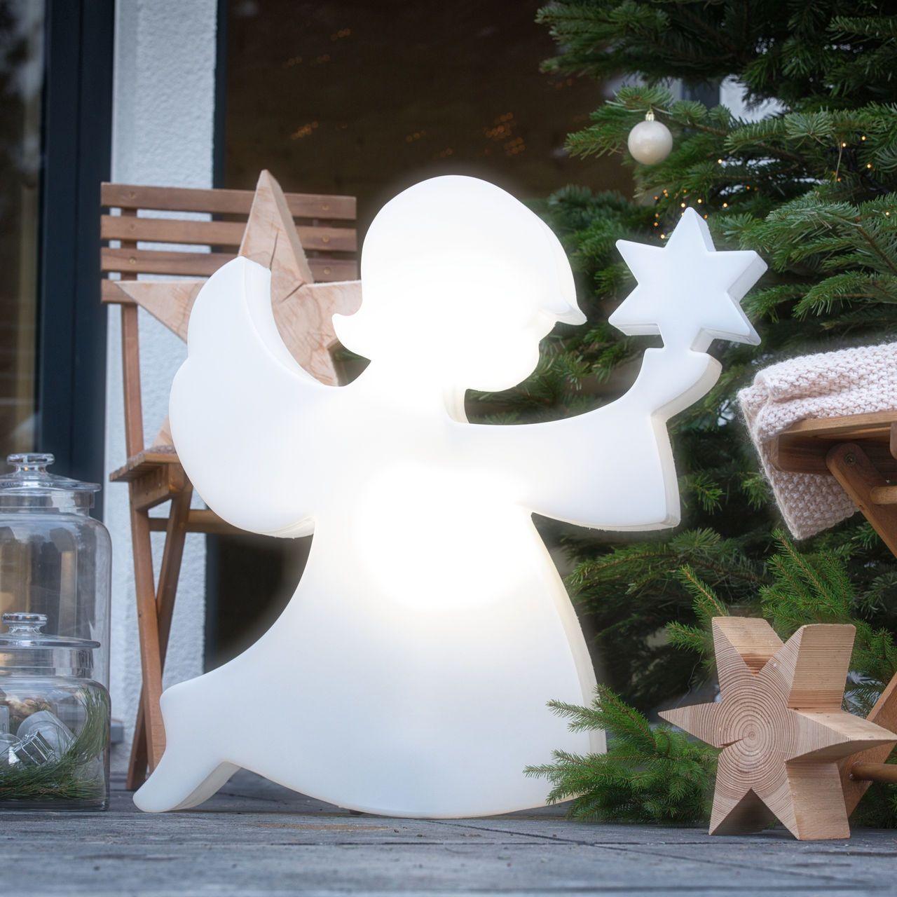 Weihnachtsbeleuchtung Engel.Zauberhafte Leuchtfigur Engel Weihnachtsbeleuchtung Für Innen Und