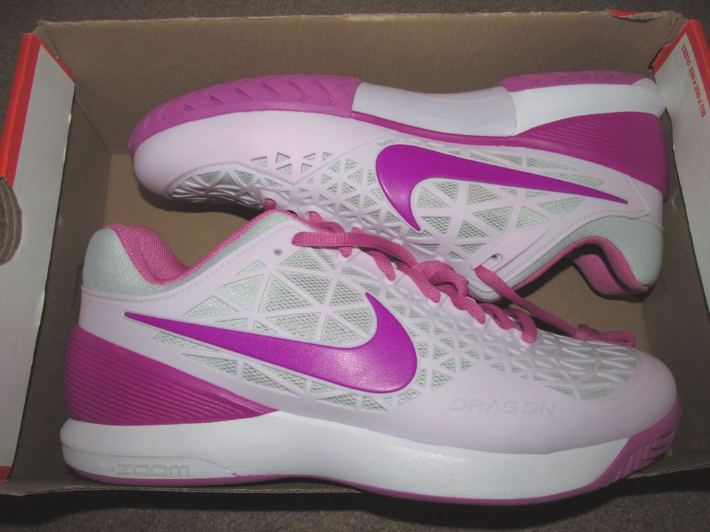 cb75fa468f8e Nike Zoom Cage 2 Womens Tennis Shoes 9.5 Bleached Lilac Hyper Violet 705260  550…