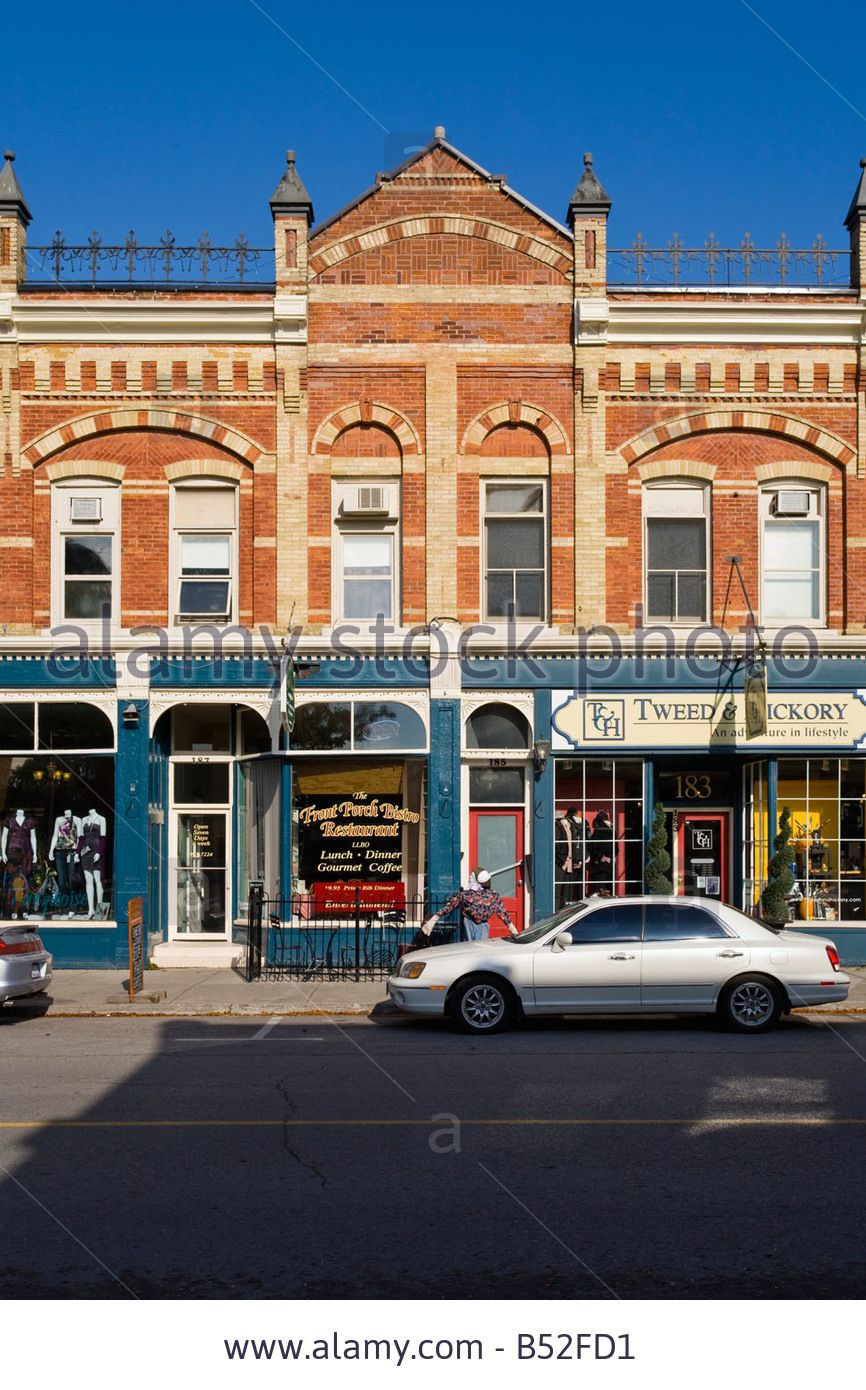 Stock Photo Victorian Era Blong Block On Queen Street The Main Street Of A Small Southern Ontario Town Port Perry Ontario Ca Main Street Ontario Canada Towns