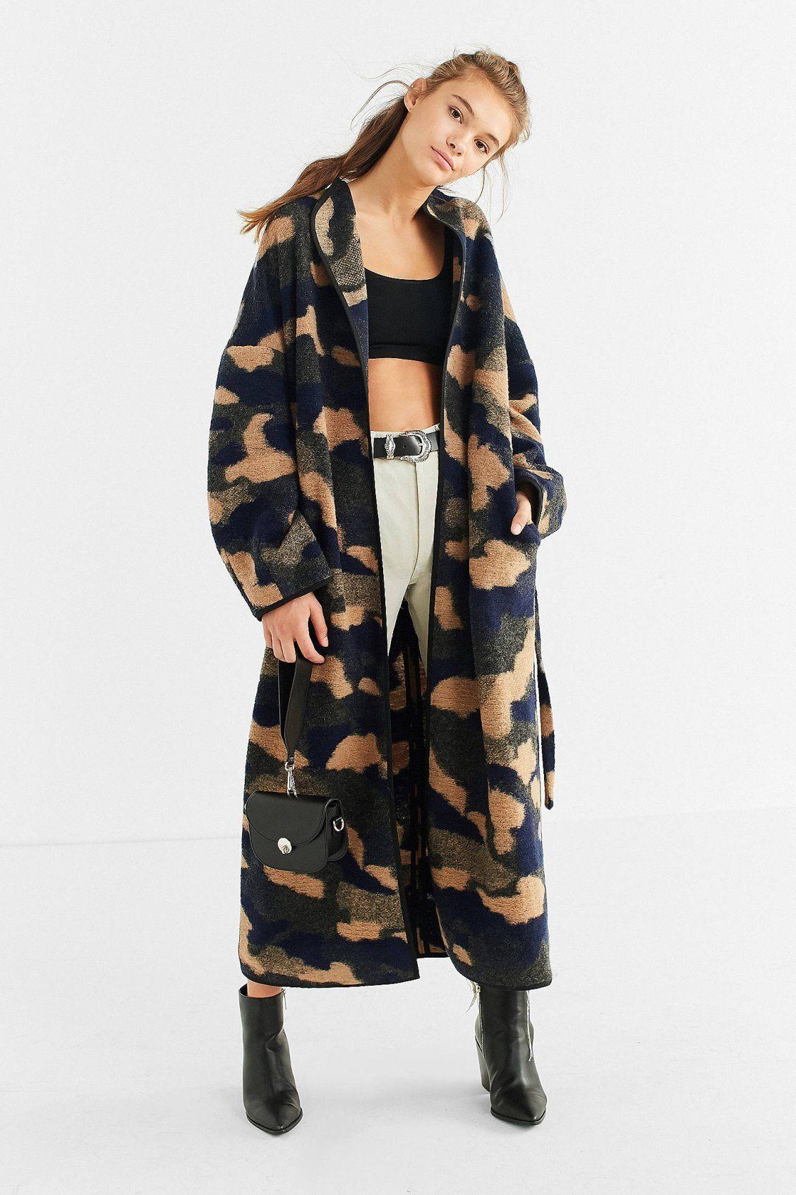 96a1c06c910fbd UO Camo Wool Cocoon Coat