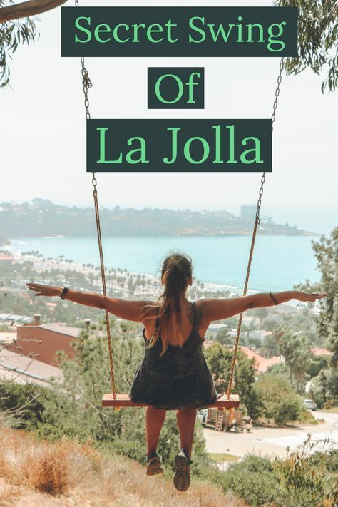 La Jolla has several secret swings with incredible views to the coast line, excellent for sunsets. I'll give you one and is up to you to discover the others. | California. | La Jolla | Secret Swing | California | San Diego | Southern California