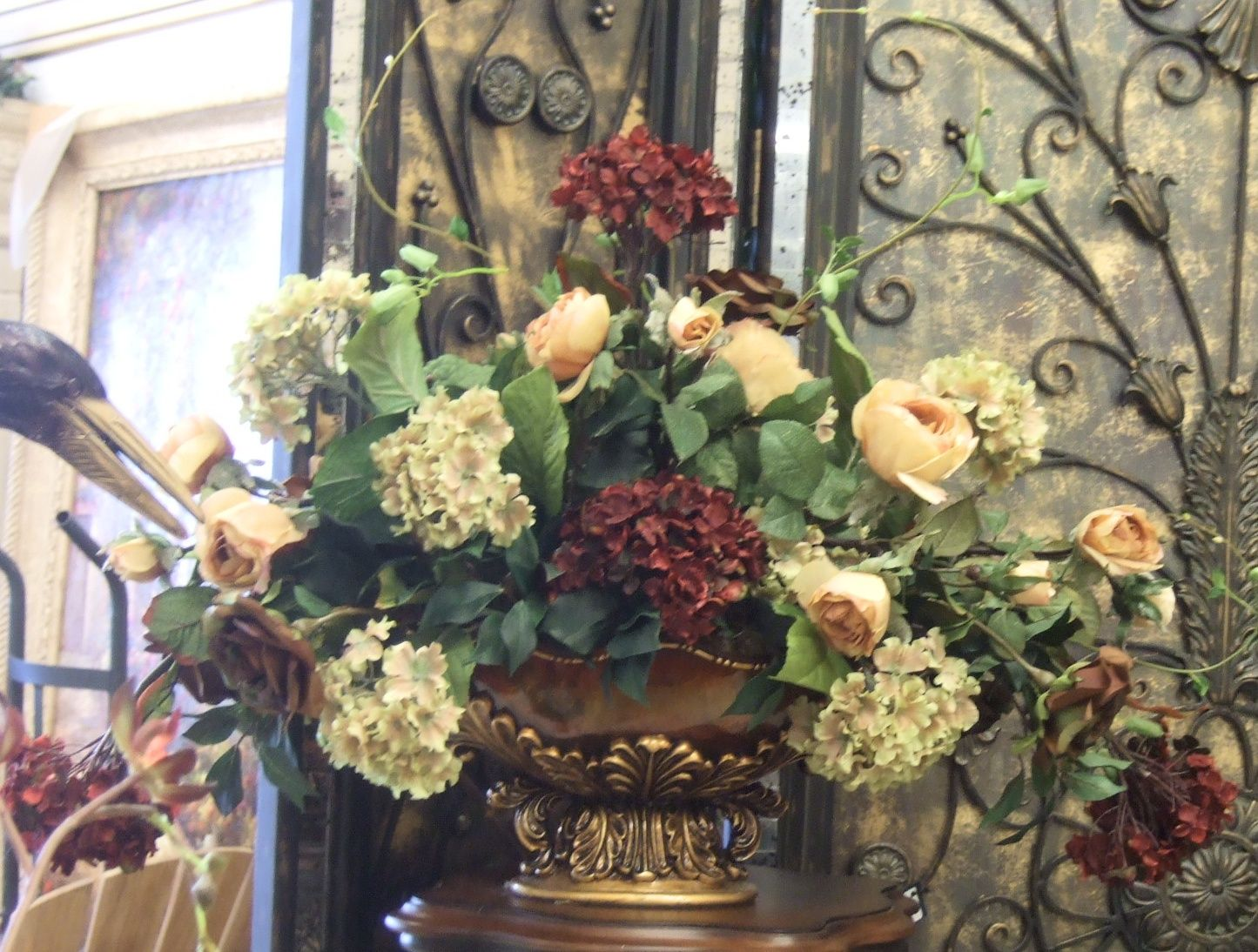 Artificial flower arrangements centerpieces these floral artificial flower arrangements centerpieces these floral arrangements with many flowers are also ideal for large dhlflorist Gallery