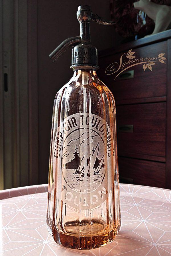 Siphon Comptoir Toulonnais Eau Gazeuse Eau De Seltz Bouteilles Antiques Bouteille Verre Bouteille Eau