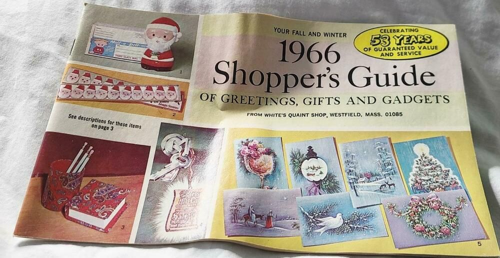 Westfield Ma Christmas 2021 Vintage 1966 White S Quaint Shop Catalog Westfield Ma Greetings Gifts Gadgets Wamaurer In 2021 Gadget Gifts Vintage 1966 Quaint